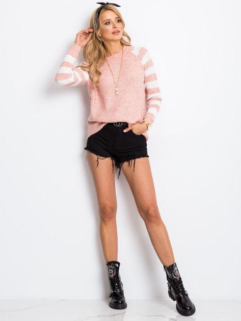 Jasnoróżowy sweter Independent                              zdj.                              4