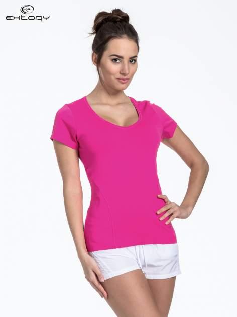 Jasnoróżowy t-shirt sportowy basic                                  zdj.                                  1