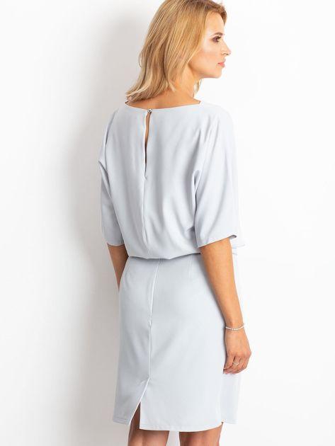 Jasnoszara sukienka Soft                              zdj.                              2