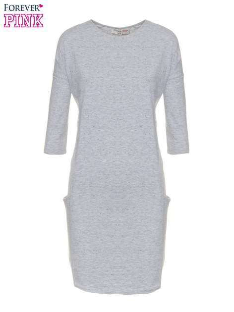 Jasnoszara sukienka dresowa z kieszeniami                                  zdj.                                  5