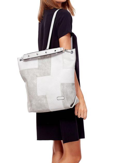Jasnoszara torba-plecak z odpinanymi szelkami                              zdj.                              5