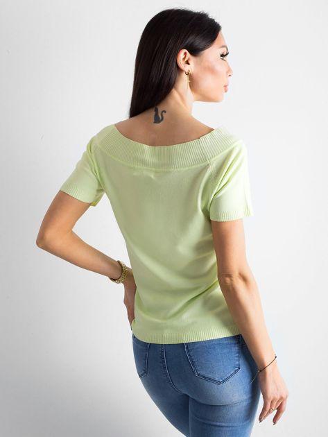 Jasnozielona bluzka z wycięciami                              zdj.                              2
