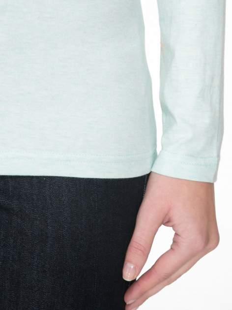 Jasnozielona gładka bluzka z reglanowymi rękawami                                  zdj.                                  6