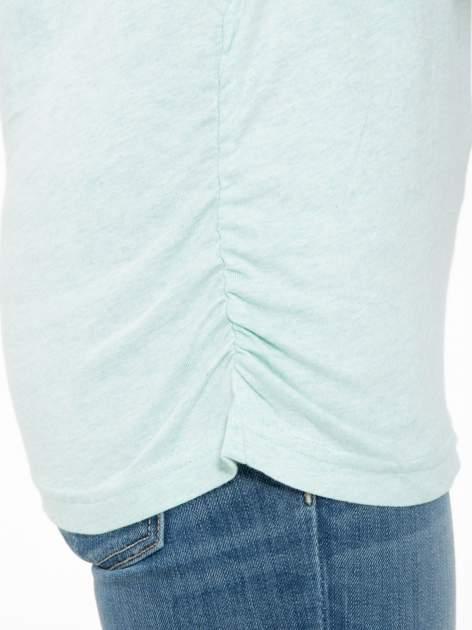 Jasnozielona luźna bluzka z rękawem 3/4                                  zdj.                                  7