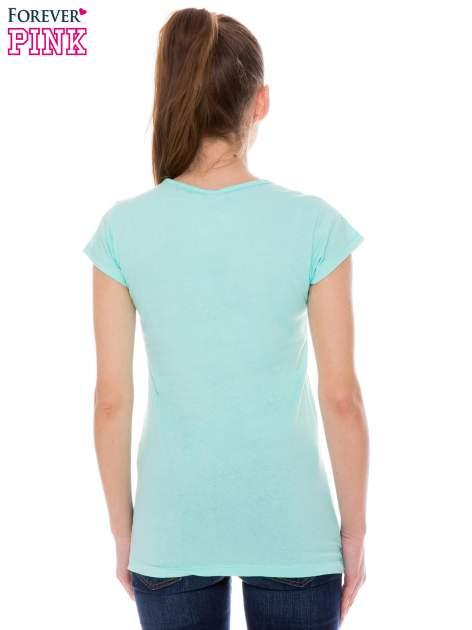 Jasnozielony t-shirt z nadrukiem LAZY KOALA                                  zdj.                                  3
