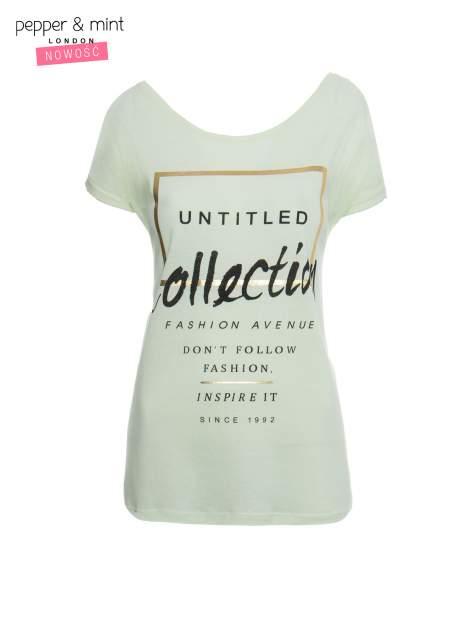 Jasnozielony t-shirt z nadrukiem UNTITLED COLLECTION                                  zdj.                                  2
