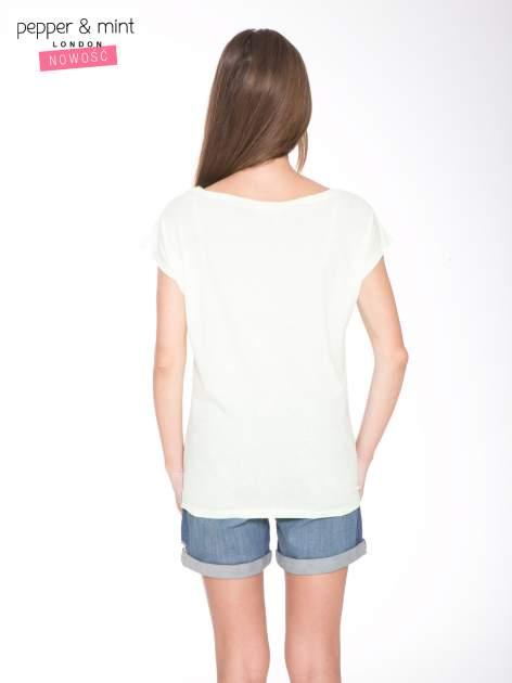 Jasnozielony t-shirt z nadrukiem UNTITLED COLLECTION                                  zdj.                                  4