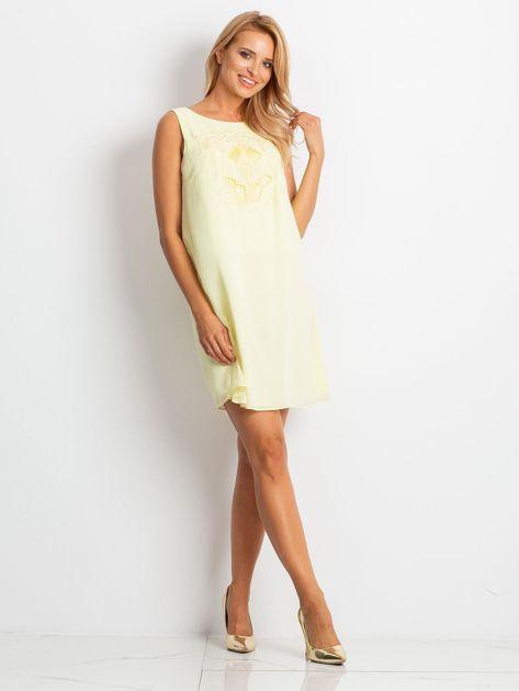 Jasnożółta sukienka Secret                              zdj.                              4
