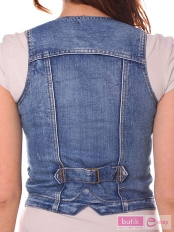 Kamizelka jeansowa                                  zdj.                                  4