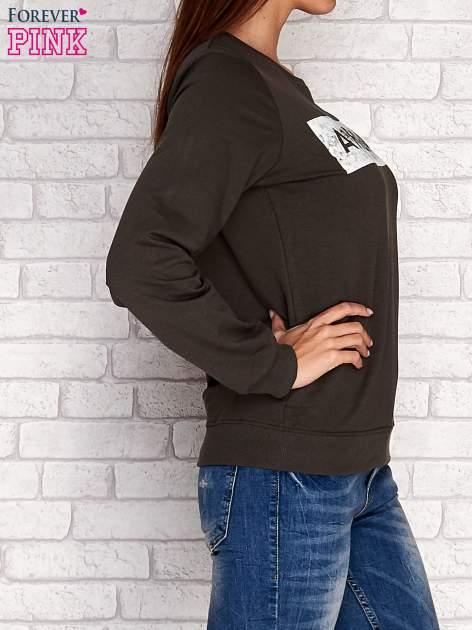 Khaki bluza z napisem ARIGATO                                  zdj.                                  3