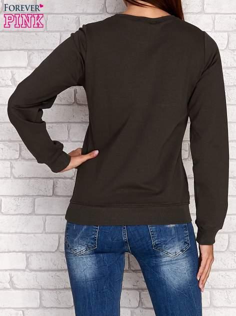 Khaki bluza z napisem ARIGATO                                  zdj.                                  2
