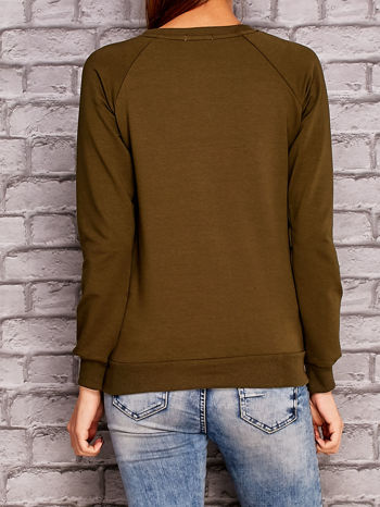 Khaki bluza z napisem ZŁOŚNICA                                  zdj.                                  4