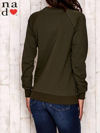 Khaki bluza z serduszkami                                  zdj.                                  5