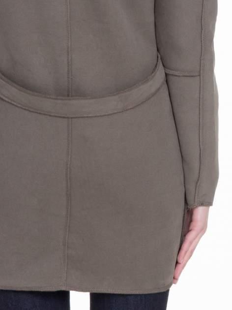 Khaki dresowy płaszcz o kroju oversize                                  zdj.                                  10