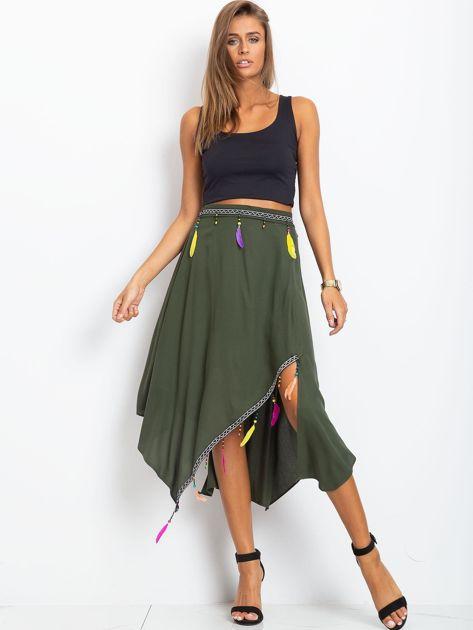 Khaki spódnica Amazon                              zdj.                              4