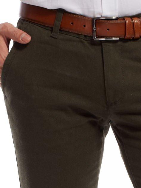 Khaki spodnie męskie chinos                              zdj.                              15
