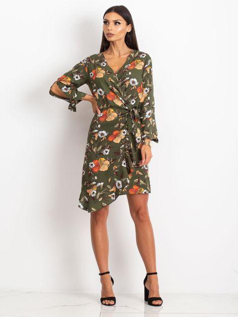Khaki sukienka Maybe                              zdj.                              4
