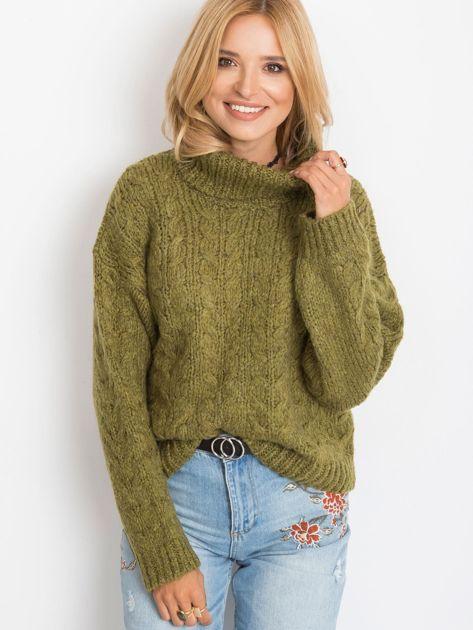 Khaki sweter Heavenly                              zdj.                              5