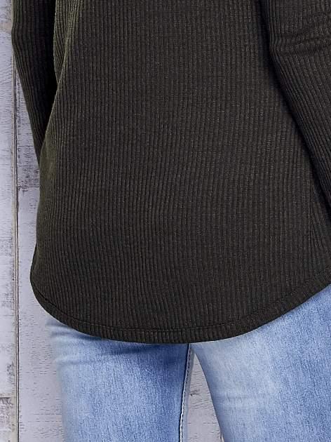 Khaki sweter w prążki                                  zdj.                                  7