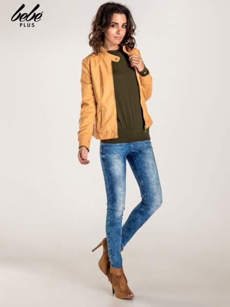 Khaki sweter z kokardą na plecach                                  zdj.                                  2