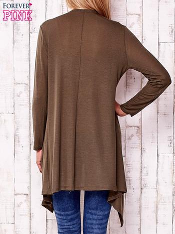 Khaki sweter z otwartym dekoltem                                  zdj.                                  4