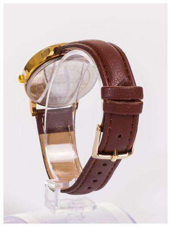 Klasyczny damski zegarek z ozdobnymi cyrkoniami na tarczy                                  zdj.                                  4
