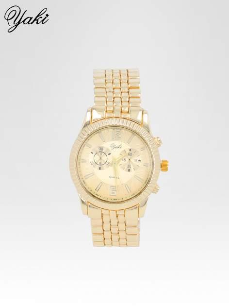 Klasyczny zegarek damski na bransolecie w kolorze złota