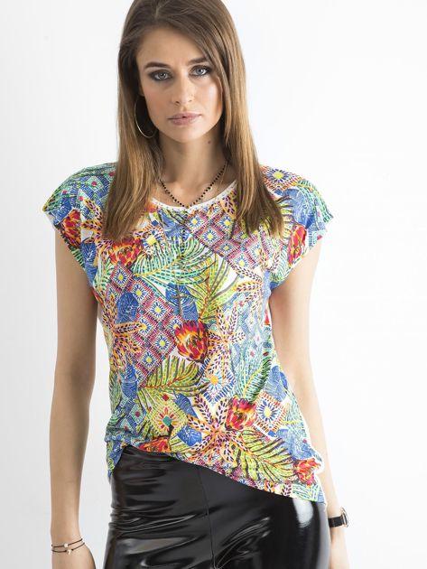 Kolorowa bluzka z aplikacją                              zdj.                              5
