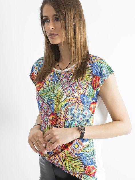Kolorowa bluzka z aplikacją                              zdj.                              3