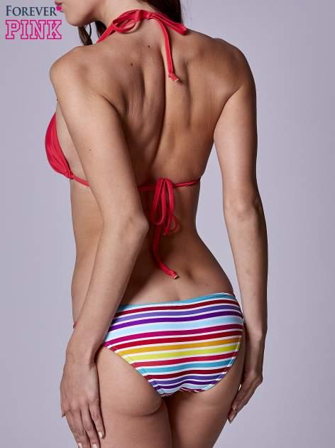 Kolorowe majtki kąpielowe damskie w paski                                  zdj.                                  3