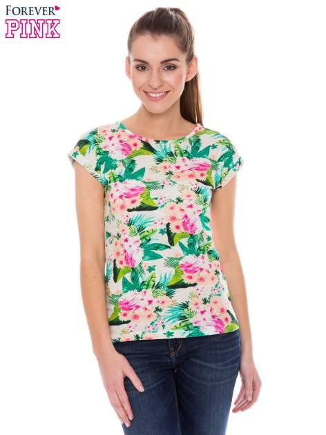 Kolorowy t-shirt w kwiaty                                  zdj.                                  1