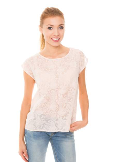 Koralowa transparentna koszula