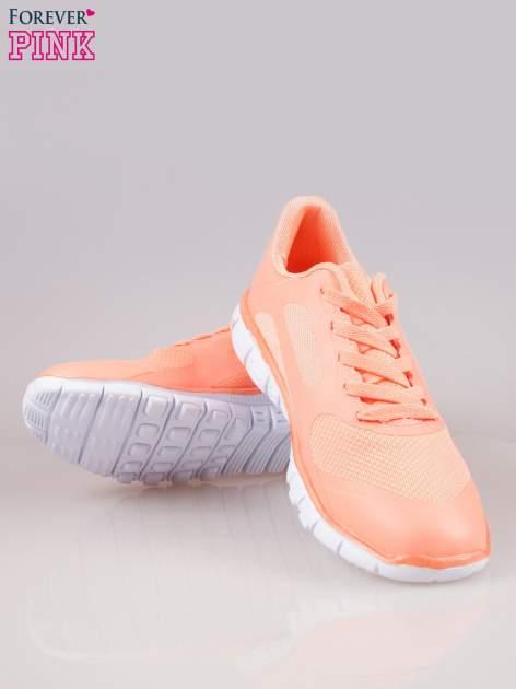 Koralowe buty sportowe eco leather Fruity z podeszwą z rowkami flex                                  zdj.                                  4
