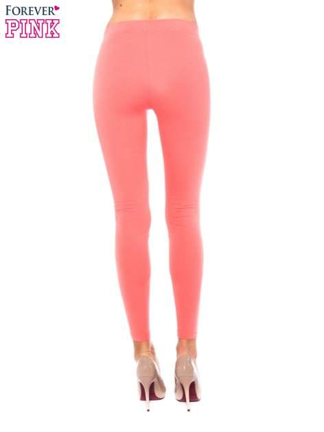 Koralowe legginsy z bawełny                                  zdj.                                  3