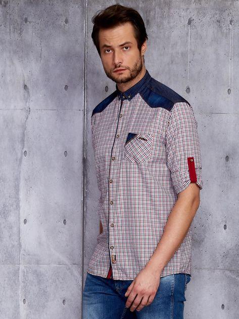 Koszula męska z denimowymi modułami PLUS SIZE                              zdj.                              3