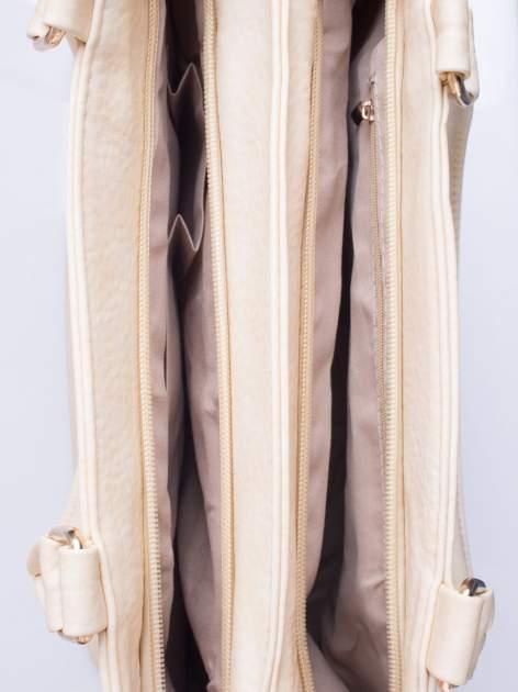 Kremowa torba miejska na ramię                                  zdj.                                  5