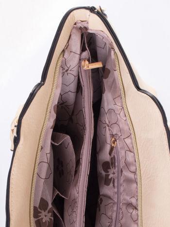 Kremowa torba ze złotymi wykończeniami                                  zdj.                                  7