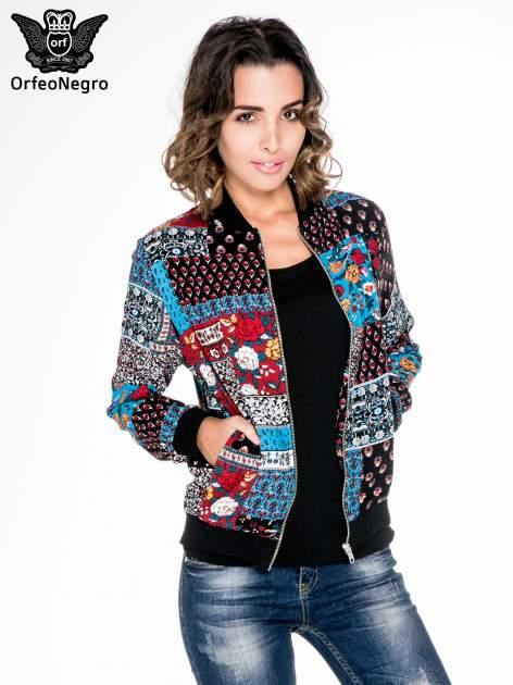 Kurtka bomber jacket w patchworkowe wzory                                  zdj.                                  5
