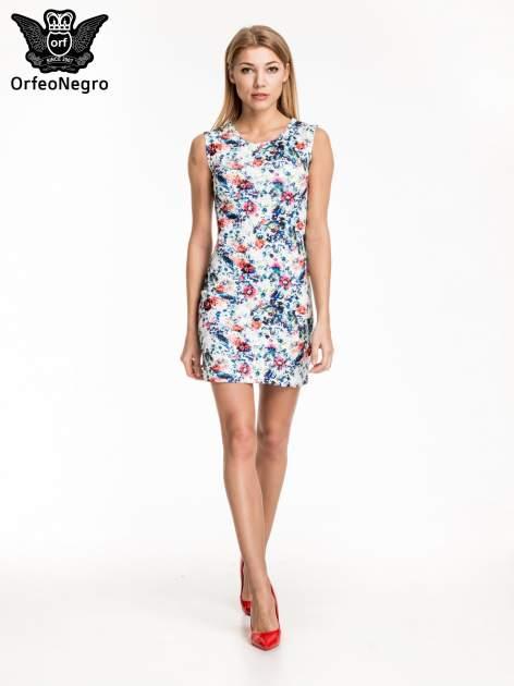Kwiatowa prosta mini sukienka                                  zdj.                                  5