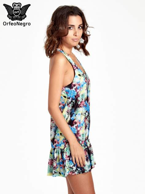 Kwiatowa sukienka z falbaną                                  zdj.                                  3