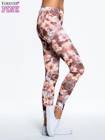 Kwiatowe elastyczne legginsy                                  zdj.                                  3