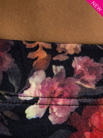 Kwiatowe legginsy elastyczne                                  zdj.                                  3