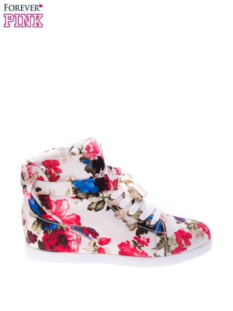 Kwiatowe sneakersy za kostkę