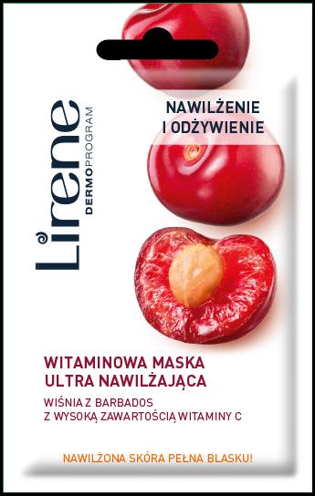 LIRENE Witaminowa maska ultranawilżająca z wiśnią z Barbados 8 ml                              zdj.                              1
