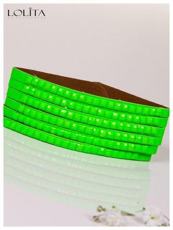 LOLITA Zielona bransoletka skórzana WRAP kryształki cyrkonie BLOGERS HIT                                  zdj.                                  4