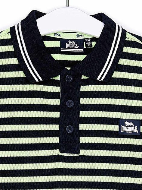 LONSDALE Granatowa koszulka polo chłopięca w paski                                  zdj.                                  3