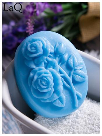 LaQ Mydełko Dwie róże - niebieski / Zapach - wata cukrowa BEZ SLS i SLES                                  zdj.                                  1