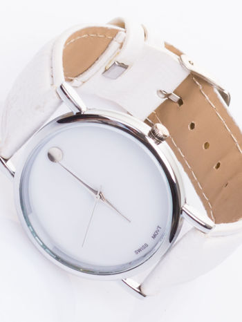 Ładny biały zegarek damski                                   zdj.                                  1