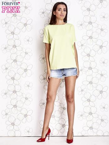 Limonkowy t-shirt oversize                                  zdj.                                  2