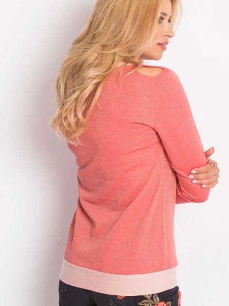 Łososiowa bluza z łańcuszkiem z wycięciami                              zdj.                              4